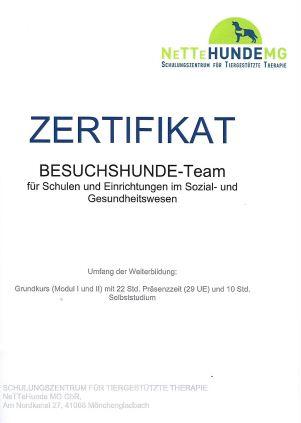 Zertifikat NeTTEHUNDEMG